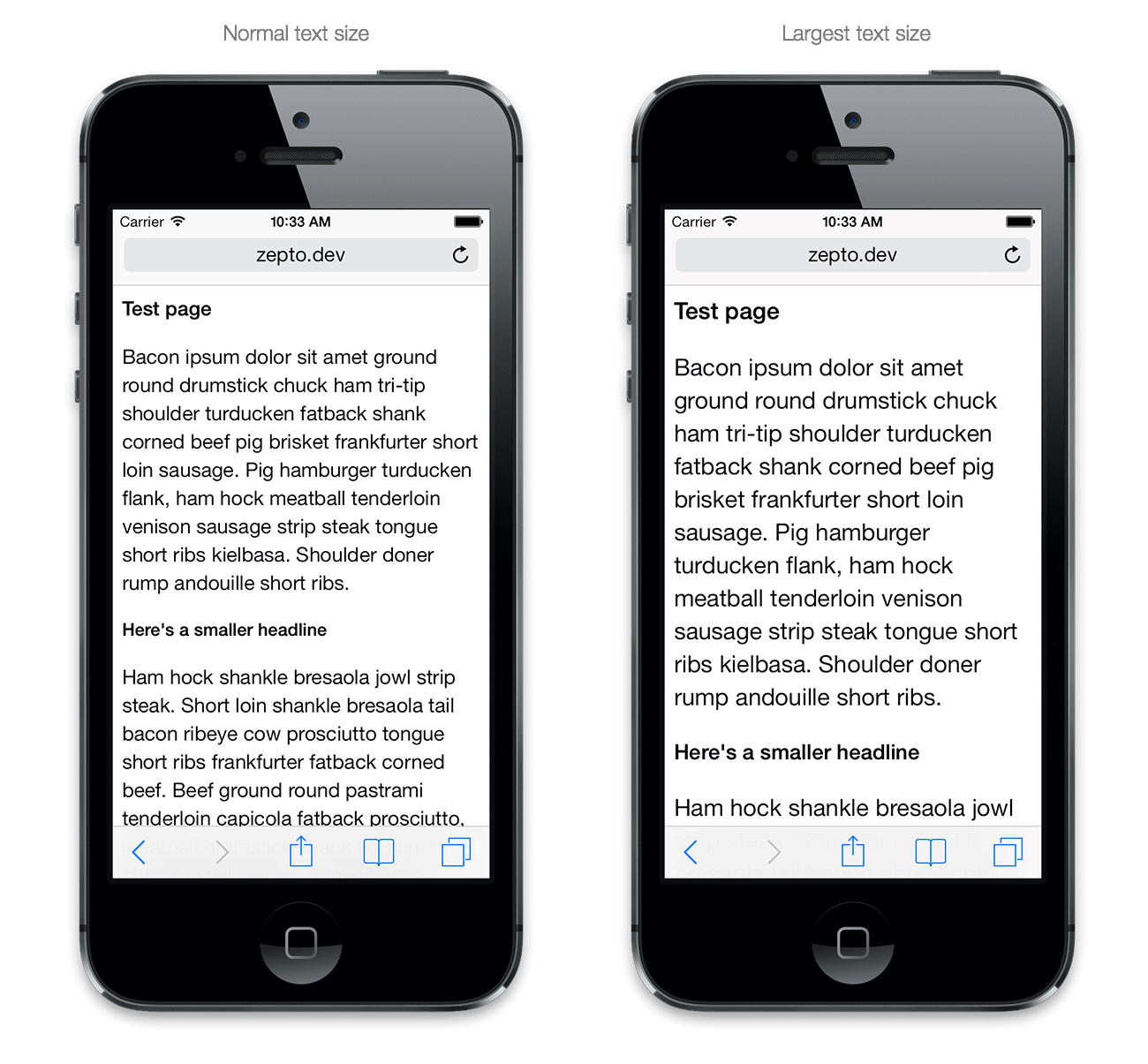 Web text app for iphone